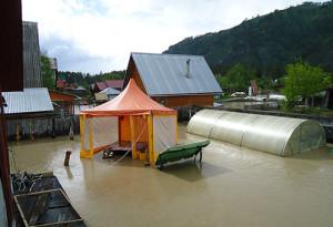 наводнение фото Манжерок